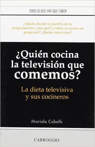quien cocina la television que comemos?la dieta televisiva y ...