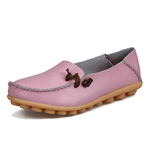 Blivener Womens Flat Shoes Casual Loafers Walking Comfort Summer Slippers Pink
