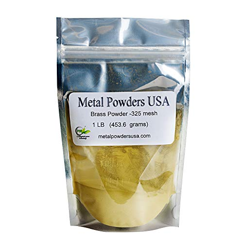 Brass Powder -325 Mesh One Pound (1LB) Ships 1-3 Days Priority Mail