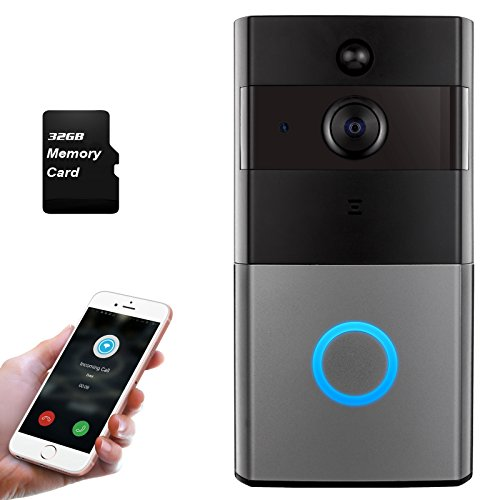 Mbangde Wireless Video Doorbell, Smart Wi-Fi Video Door bell with Motion Detection, Night Vision Infrared LEDs, Two-way Audio for IOS and Android App, with 32G Strorage by Mbangde (Image #8)