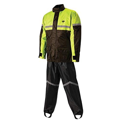 Nelson-Rigg SR-6000-HVY-03-LG Stormrider Rain Suit (Black/High Visibility Yellow, Large)