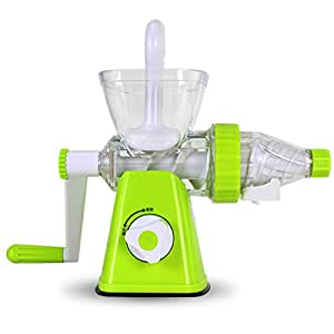 Manual juicer, hand juice machines for domestic use. baby blender. fruit and vegetable mini-press , green