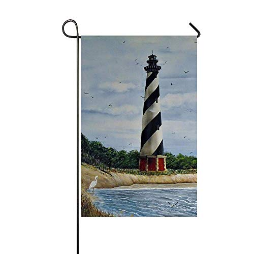 (BINGOLIN Welcome Y'all Garden Flag Yard Decorations Use 100% Waterproof Polyester Flags (Hatteras Lighthouse))