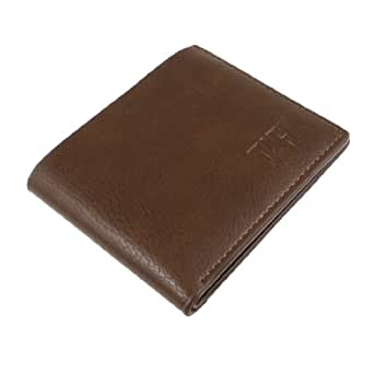 Brown 2 Part ID Window Flip Open Design Man Brown Bifold Wallet for Man
