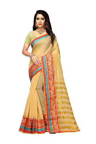 Sarees Traditional Women Da Designer Wedding Sari 15 Party Indian Cream Facioun Chiku Wear BEqnwTx14