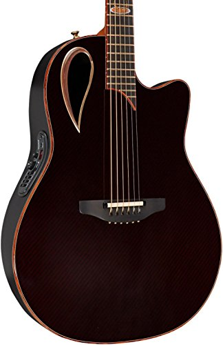 Adamas 2098-AV40 40th Anniversary Adamas Contour Bowl Acoustic-Electric Guitar Ruby Gloss ()