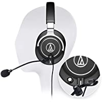 Audio-Technica ATH-M70x Professional Monitor Headphone - INCLUDES - Antlion Audio ModMic Attachable Boom Microphone - Noise Cancelling w/ Mute Switch + Y Splitter - HI-FI GAMING BUNDLE