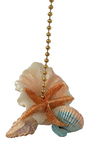 Design Tropical Decoration (Starfish Seashells Sea Shell Beach Fan Light Pull)