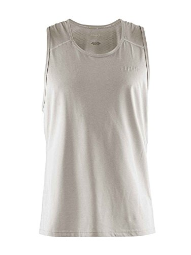 Dri Mesh Singlet Fit - Craft Precise Racerback Mens Running Cycling Fitness Tank (Large, Grey)