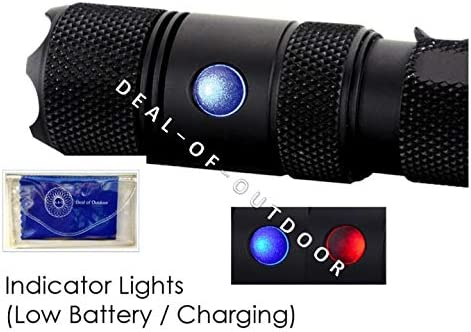 Powertac E9R G4 2550 Lumen USB Rechargeable LED Police Duty Compact Powerful Tactical Flashlight Dual-Charging Magnetic and USB System Hard Shell Holster with Compass 44 8-in-1 Tactical Keychain