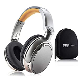 Over Ear Wireless Bluetooth Stereo Headphones   Built in Mic and Optional Wired Mode   16 Hour Battery Life   Compatible with All-new Kindle Paperwhite & Oasis, Apple, Samsung, and Android Devices