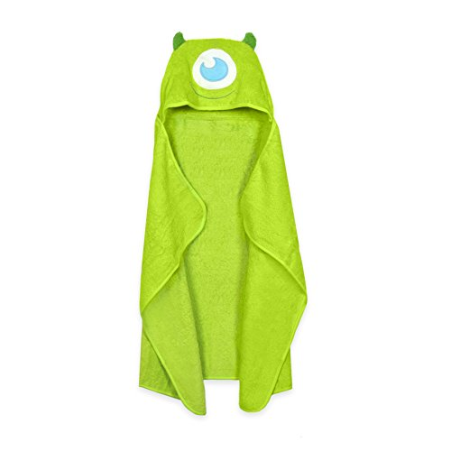 Monsters Mike (Disney Baby Puppet Head Towel Set, Lime Green Monsters Mike)