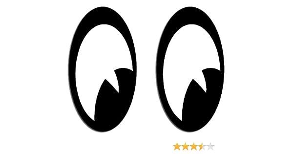 2 Pegatinas de ojos 60 x 33 mm para casco de moto o para el coche ONEKOOL: Amazon.es: Coche y moto