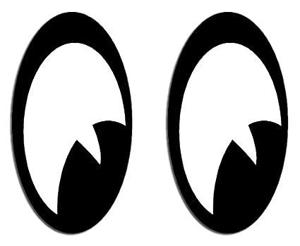 2 Pegatinas de ojos 60 x 33 mm para casco de moto o para el coche