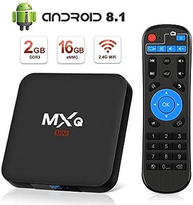 Android 8.1 TV Box, Superpow Smart TV Box Quad Core 2GB RAM+16GB ROM, 4K*2K UHD H.265, HDMI, USB*2, WiFi Media Player, Android Set-Top Box: Amazon.es: Electrónica