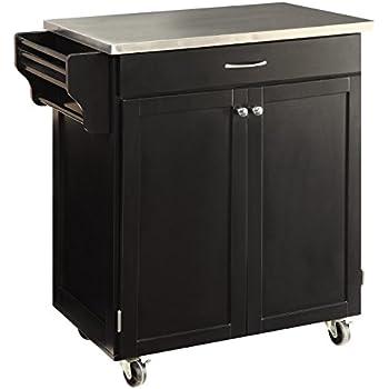 Superb Oliver And Smith   Nashville Collection   Mobile Kitchen Island Cart On  Wheels   Black