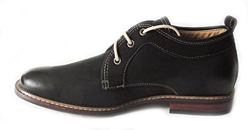 NEWFERRO ALDO MENS ANKLE BOOTS DRESSY CASUAL LEATHER LINED CHUKKA LACE UP SHOES MFA506257 /BLACK HJKwS5ZDPe
