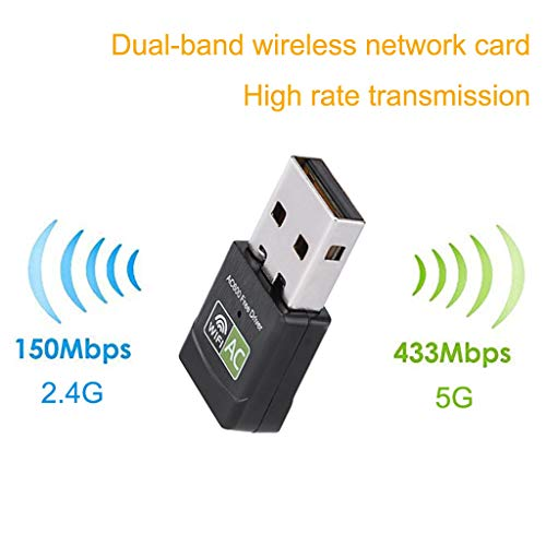 SimplylinUSB WiFi Adapter Wireless Network Card Dual Band 2.4G/5.8G for Desktop/Laptop/PC from Simplylin_Tools & Home Improvement