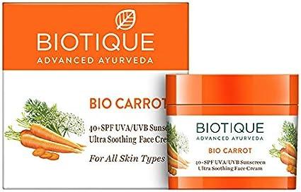 Bio Carrot Face And Body Sun Cream Spf 40 Uva Uvb Sunscreen Amazon Co Uk Beauty