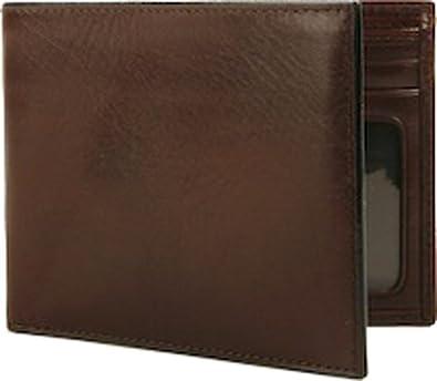 Amazon.com: Bosca Mens Bi Fold Executive I.D. Wallet Old Leather (Dark  Brown): Clothing