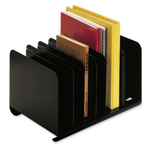 STEELMASTER Adjustable Steel Book Rack, 15 x 8.81 x 11 Inches, Black (26413BRBLA) by MMF Industries
