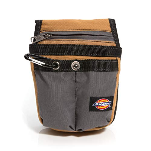 (Dickies Work Gear 57005 Grey/Tan Tool Pouch with Security Zipper Pocket)