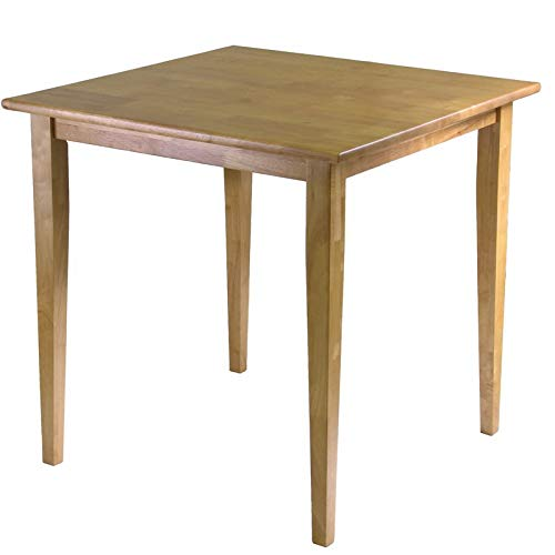 Table Beech Extendable - Beech Wood Dining Table with Tapered Legs - Dining Table with Square Top - Light Oak