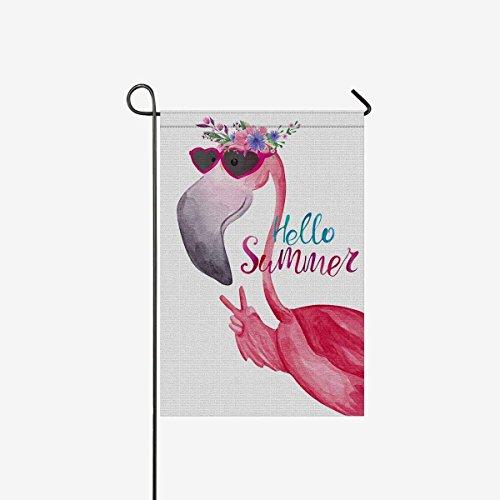 Funny Flamingo in SunglassesGarden Flag 28