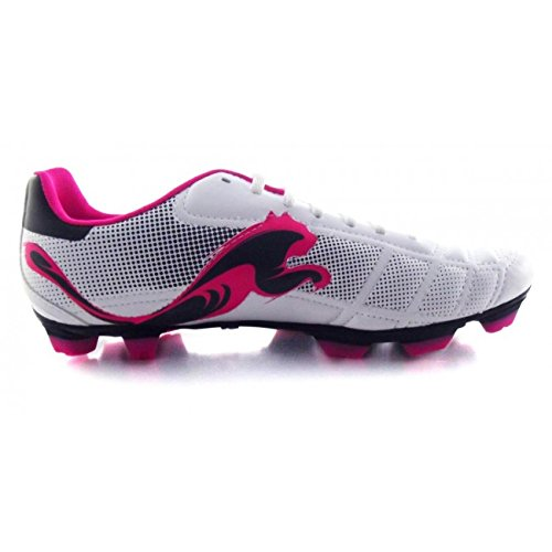 Puma v6.11 FG adulte Blanc/Marine/Rose Bottes 9UK