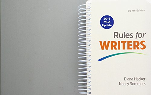 Rules for Writers with Writing about Literature (Tabbed), 2016 MLA Update Edition 8E & LaunchPad Solo for Readers an