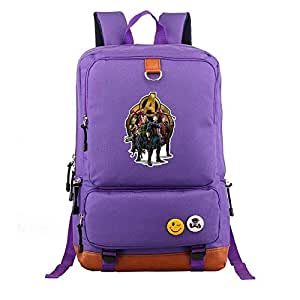 Asdfnfa Backpack, 20-35L Travel Package Men and Women Unisex Casual Bag Computer Large Capacity Student Schoolbags (Color : Purple)