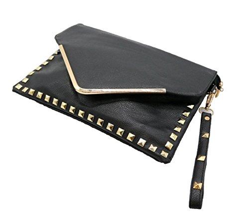 REKADE Clutch bag Shoulder bag Leather Studs [ for Women ] Wedding Party
