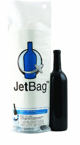 Jet Bag Reusable Padded Absorbent Bottle Bags, Bio-Degradable Travel Accessories (1 Pack)