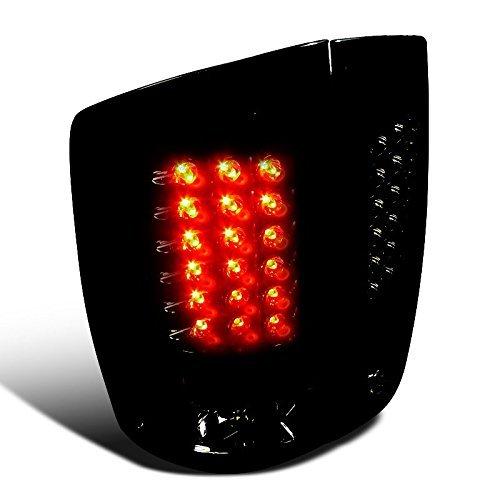 Spec-D Tuning LT-RAM02BBLED-TM Dodge Ram 1500 Slt Srt 10 Base, Glossy Black Housing Smoked Lens Led Tail Lights ()