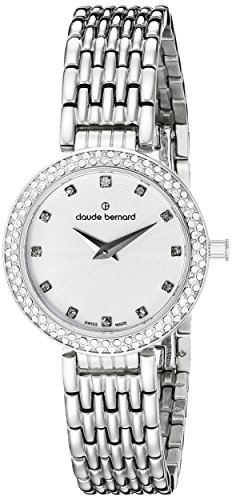 Claude Bernard Women's 20204 3 B Dress Code Analog Display Swiss Quartz Silver Watch
