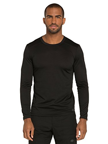 Dickies DK910 Men's Men's Long Sleeve Underscrub Knit Top Black