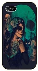 iPhone 5 / 5s Skull girl - black plastic case / hipster, tribal