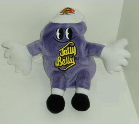Jelly Belly Plush Keychain Backpack Clip - Gourmet Jelly Bean Island Punch (purple)