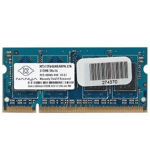 Nanya 512MB DDR2 RAM PC2-4200 200-Pin Laptop SODIMM