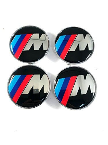 Hanway Black base 10Pin BMW M Power Wheel Center Cap Emblem Sticker BMW M3 M5 M6 1 2 3 4 5 6 Series (Bmw M6)
