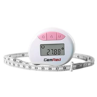 GemRed Digital Body Circumference Tape Measure Waist Bicep Measure with Auto-Locking and Retractable (Pink)