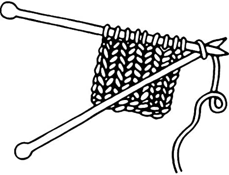RS00012807 Azeeda A7 Knitting Unmounted Rubber Stamp