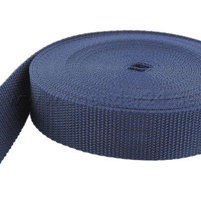 10m PP Gurtband - 40mm breit - 1, 2mm stark - dunkelblau (UV) BAENDER24