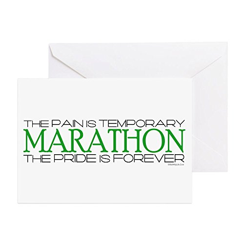 CafePress - Marathon - Pride Is Forever Good Luck Card - Greeting Card, Note Card, Birthday Card, Blank Inside (Marathon Greeting Cards)