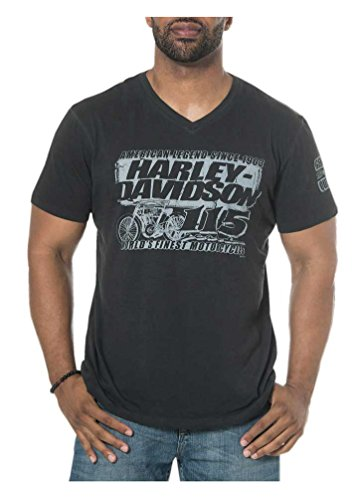 (Harley-Davidson Mens 115th Anniversary Renaissance V-Neck Short Sleeve Tee (2XL))