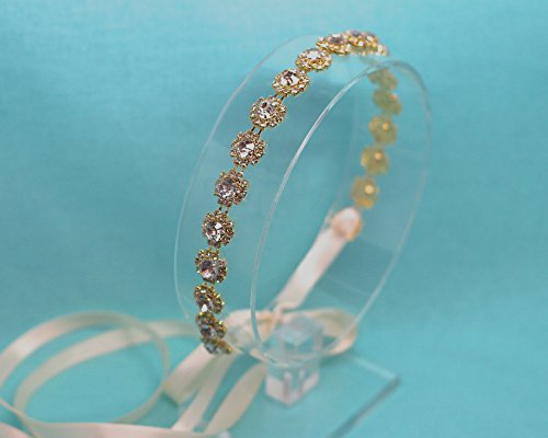 Belle Fleur Gold Tone Wedding Headband by The Ivory Willow