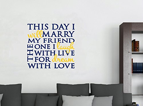 Wall Decor Plus More WDPM3440 This Day I Will Marry Weddi...