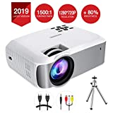 Mpow Projector, 1080P Supported Mini Projector 130 ANSI Full HD Home Theatre LED