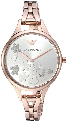 Emporio Armani Women's 'Dress' Quartz Stainless Steel Casual Watch, Color:Rose Gold-Toned (Model: AR11108)