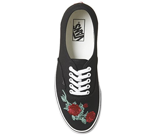 Black Red Vans Rose Black Vans Rose Red Authentic Vans Authentic Rose Red Black Authentic qn1Pq6wz